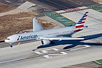 American Airlines Boeing 777-300ER (N719AN) landing at Los Angeles International Airport.jpg