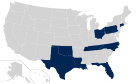 American Athletic Conference locations