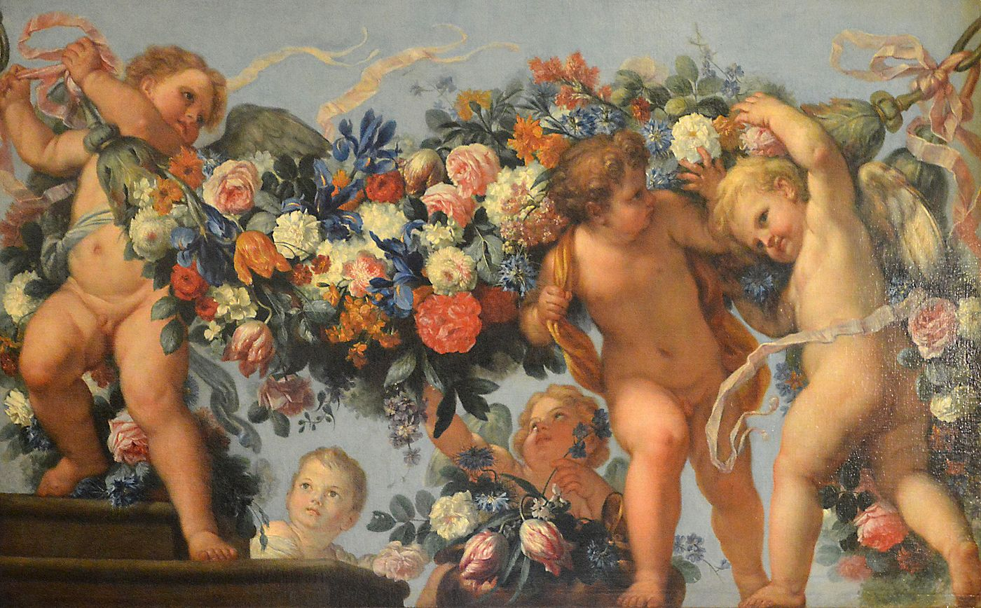Cupids and Garlands of Flowers