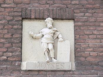 Nederlands: Mozes en Aäronkerk, Waterlooplein,...