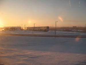 Grand Forks station - Image: Amtrak Grand Forks wye