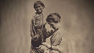 Amy Carmichael - Amy Carmichael with children in India