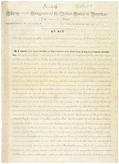 District of Columbia Compensated Emancipation Act Law that ended slavery in the District of Columbia