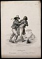 An Italian brigand attacking a gentleman on a road; exhibiti Wellcome V0009470ER.jpg