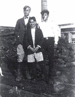 Anders Lange - Anders Lange (seen standing back to the left) in Argentina in the late 1920s.