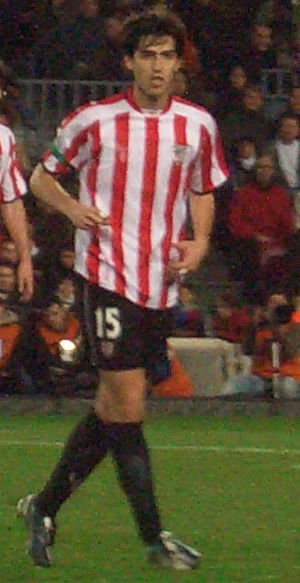 Andoni Iraola - Iraola playing for Athletic Bilbao in 2007