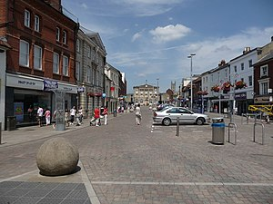 Andover, Hampshire - Image: Andover High Street geograph.org.uk 2191677