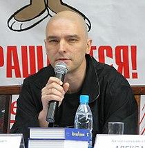 Andrei Derzhavin at Nu, pogodi! press conference (crop).jpg