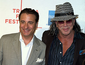 Mickey Rourke - Andy García and Rourke at the 2009 Tribeca Film Festival.