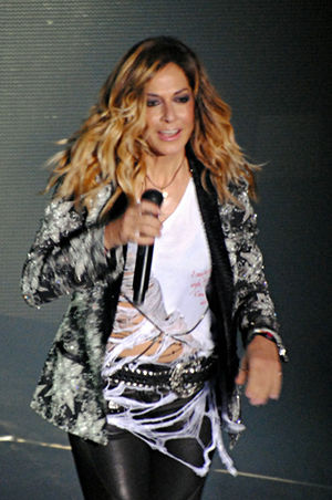 Greek singer Anna Vissi live on stage at Athin...