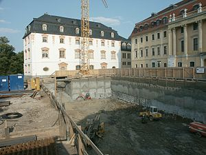 Duchess Anna Amalia Library - Work on the Extension, June 2002