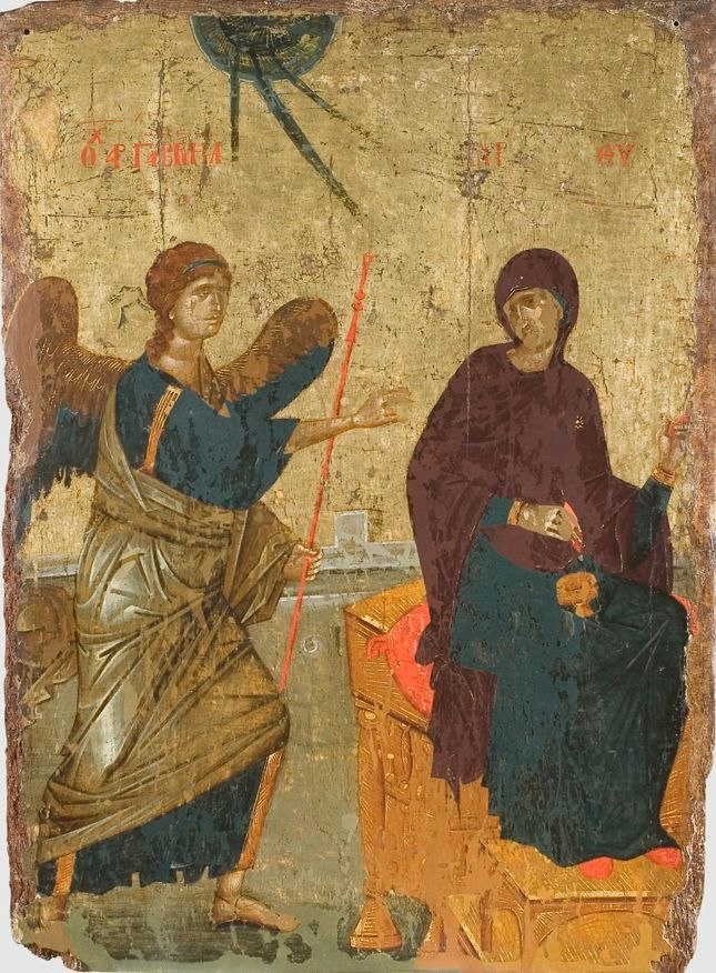 Annunciation Icon Serbia 14th c