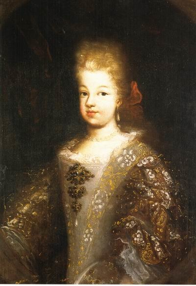 Anonymous portrait of Maria Luisa of Savoy (1688-1714, future Queen of Spain)