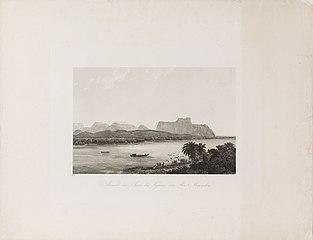 Ansicht der Serra das Figuras, vom Rio Maranhao