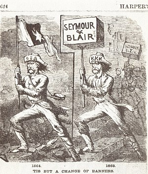 "Cartoon from 1868 (""'Tis but a change of ..."