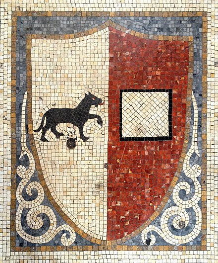 Mosaic of the old city Coat of Arms Antico Stemma Piacenza.jpg