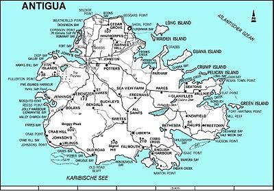 antigua karte Antigua – Reiseführer auf Wikivoyage