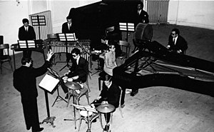 Antonio Buonomo - Antonio Buonomo conducting one of Europe's first percussion instrument ensembles (Naples Scarlatti Hall 1966)