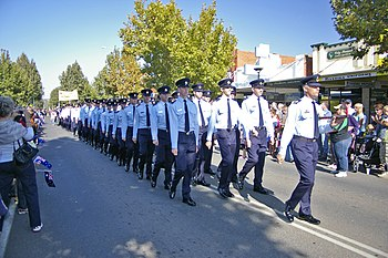 Anzac Day March. Wagga Wagga, New South Wales