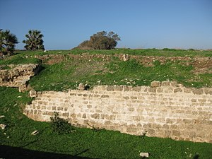 Baldwin I of Jerusalem - Ruins of the city wall at Arsuf