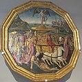 Apollonio di giovanni (cerchia), desco da parto con il trionfo dell'amore, 1460-70 ca..JPG