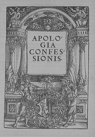 Apology of the Augsburg Confession - Image: Apologia
