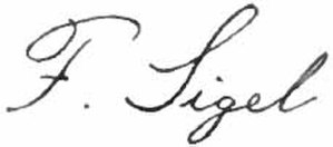 Franz Sigel - Image: Appleton's Sigel Franz signature