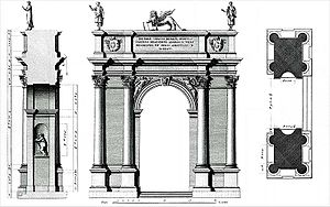 Acqua Felice - Arco Salette, Vicenza, 1576, attributed to Andrea Palladio, for comparison