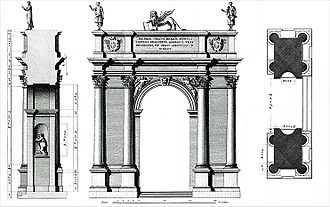 Acqua Felice - Arco Salette, Vicenza, 1576, attributed to Andrea Palladio, for comparison
