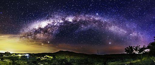 Arco da Via Láctea sobre Corumbá