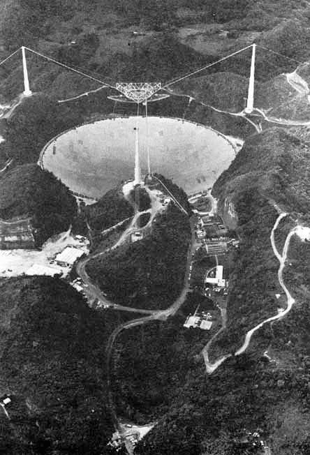 Arecibo Observatory Black and White