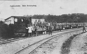 Heeresfeldbahn - A Heeresfeldbahn in the Forest of Argonne in the First World War