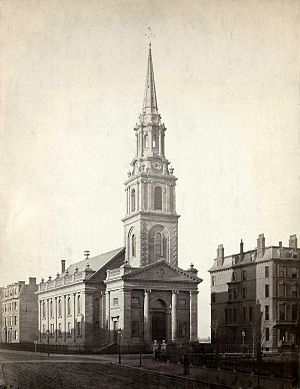 Arlington Street Church - Arlington St. Church, c. 1862. Photo by J.J. Hawes