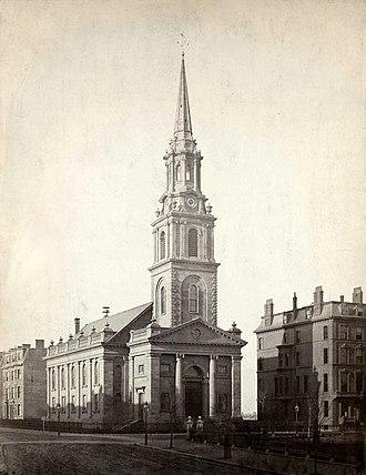 Arlington Street Church - Arlington St. Church, c. 1862. Photo by J.J. Hawes