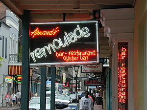 Oyster bar - Arnaud's Remoulade, a restaurant and oyster bar in New Orleans, Louisiana, United States.