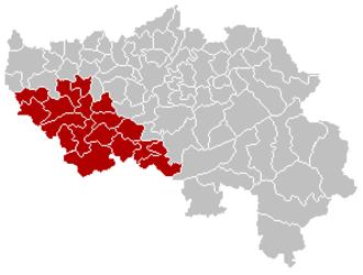 Liège (province) - Image: Arrondissement Huy Belgium Map