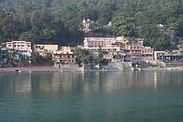 Ashrams on the banks of Ganges, Rishikesh