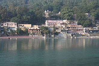 Ashram - Sivananda Ashram, Rishikesh, the headquarters of Divine Life Society, founded by Sivananda Saraswati in 1936.