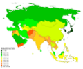 Asian countries by Human Development Index (2015).png