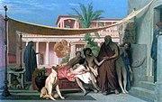Jean-Léon Gérôme (1824–1904): Sócrates buscando a Alcibíades en casa de Aspasia, 1861.