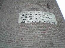 Moasca - Circondario di Asti sotto la provincia di Alessandria