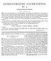 Astronomische Nachrichten, Nr. 1, Spalte 1–2.jpg