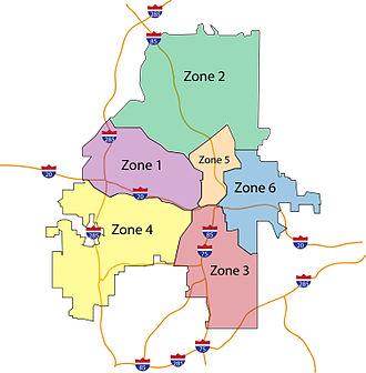 Atlanta Police Department - Map showing the Atlanta Police Zones in February 2013