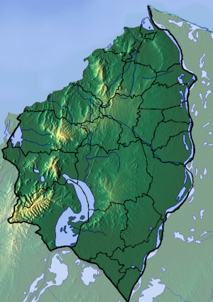 Atlántico Department - Image: Atlantico Topographic 2