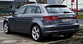 Audi A3 Sportback 2.0 TDI Ambiente (8V) – Heckansicht, 16. März 2014, Düsseldorf.jpg