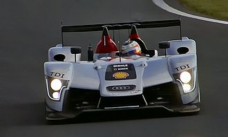 Timo Bernhard - Bernhard driving an Audi R15 TDI at the 2009 24 Hours of Le Mans.