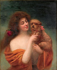 Auguste Emile Bellet - Portrait of a woman and her dog.jpg