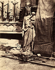 Auguste Mestral, Sculpture of Virgin and Child, Notre Dame, Paris, ca. 1851.jpg