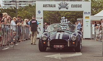 1/100 Regularity Rally - The start gate of Australia Classic 2015, a 1/100 regularity in Cairns, Queensland, Australia