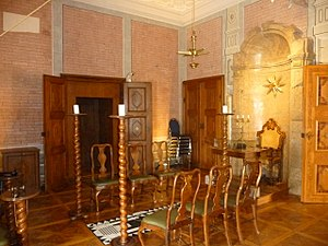 Masonic lodge - Lodge room in Schloss Rosenau (Austria)